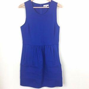 Madewell Raw Edge Fit Flare Sleeveless Dress